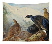 Black Grouse And Gamebirds By Thorburn Tapestry