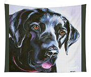 Black Lab No Ordinary Love Tapestry