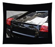 Black Lamborghini Sports Car  Tapestry