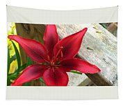 Black Center Day Lily  Tapestry