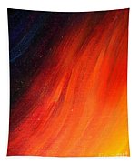 Black-red-yellow Abstract Tapestry