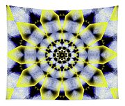 Black, White And Yellow Sunflower Tapestry