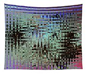 Black Walnut Ink Tepary Bean Abstract Tapestry