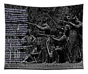 Black When Haitians Were Heroes In America Series Print No. 2 With Text Tapestry