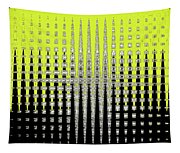 Black Yellow White With Abstract Action Tapestry