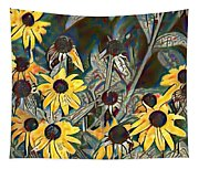 Blackeyed Susans Watercolor Tapestry