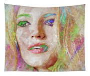 Blake Lively Watercolor Tapestry