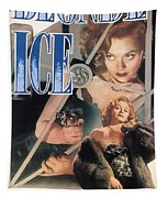 Blonde Ice Film Noir Tapestry