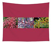Blooming Bromeliads Collage Tapestry