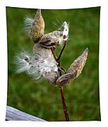 Blooming By The Fence Tapestry