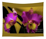 Blooming Cattleya Orchids Tapestry