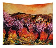 Blooming Cherry Trees Tapestry