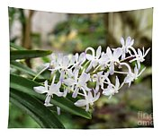 Blooming White Flower Spike Tapestry