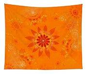 Blossom In Orange Tapestry