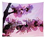 Blossoms At Sunset Tapestry