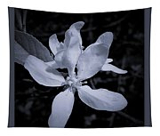 Blossoms In Black And White Tapestry