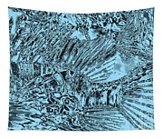 Blue Abstract - Lionfish Tapestry