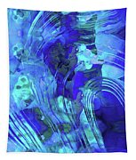 Blue Abstract Art - Reflections - Sharon Cummings Tapestry