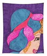 Blue And Pink Hat Tapestry