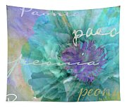 Blue And Purple Peony Tapestry