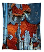 Blue And Rust Tapestry