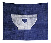 Blue And White Bowl- Art By Linda Woods Tapestry