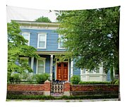 Blue And White House Tapestry