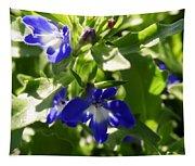Blue And White Lobelia Tapestry