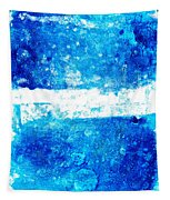 Blue And White Modern Art - Two Pools 2 - Sharon Cummings Tapestry
