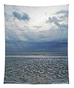 Blue Beach Morning Tapestry