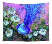 Blue Bird Christmas Wish Tapestry