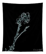 Blue Blossoming Branch In Prayer Tapestry