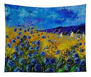 Blue Cornflowers Tapestry
