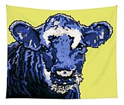 Blue Cow Tapestry