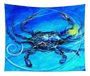 Blue Crab Abstract Tapestry