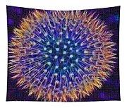 Blue Dandelion Tapestry