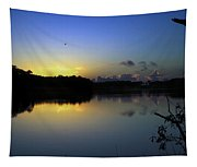 Blue Dawn At Dirickson Creek Tapestry
