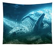 Blue Depths Sea Turtle Tapestry