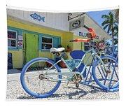 Blue Dog Matlacha Island Florida Tapestry