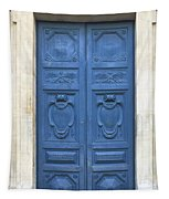Blue Door In Paris Tapestry