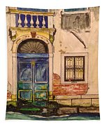 Blue Door Venice Tapestry