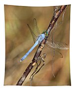 Blue Dragonfly Portrait Tapestry