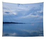 Blue Dusk At Yorktown Tapestry
