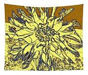 Blue-edged Dahlia Tapestry