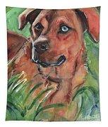 Blue Eyed Dog Tapestry