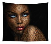Blue Eyes Wild 3 Tapestry