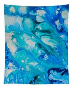 Blue Flowers Tapestry