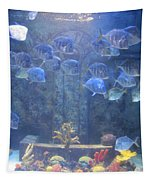 Blue Fish Tapestry