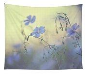 Blue Flex Flower. Nostalgic Tapestry