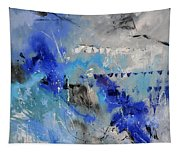 Blue Flight Abstract Tapestry